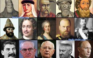Хронологическая таблица правителей России