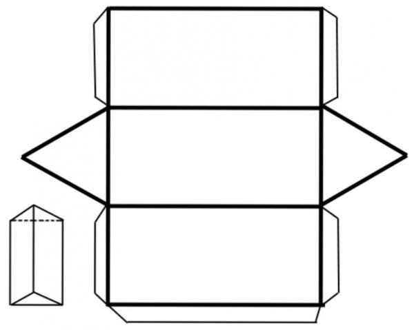 Формулы площади поверхности, основания, сечения призмы