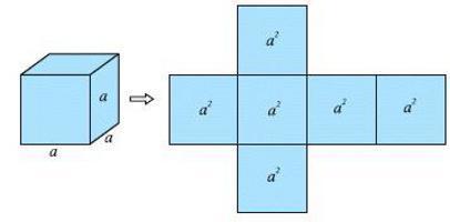 Площадь поверхности куба, формулы и примеры