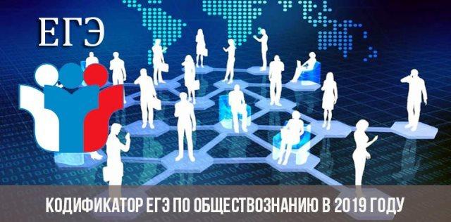Кодификатор ЕГЭ по обществознанию от ФИПИ