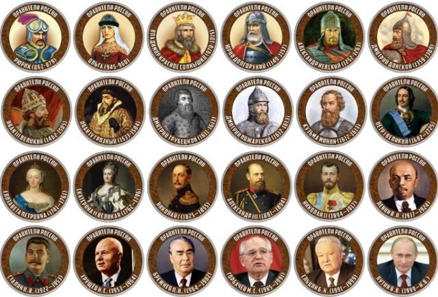 Правители России от Рюрика до Путина: таблица